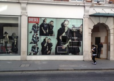 Diesel printed window vinyl