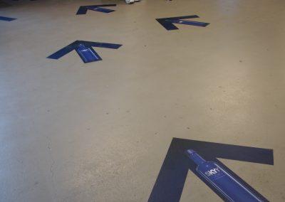 Skyy Vodka floor graphics